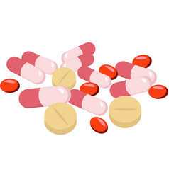 Assorted pharmaceutical medicine pills tablets vector