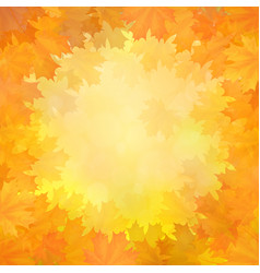 autumn background with frame of maple leaves vector image
