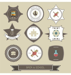 Back to School Design Collection and labels card vector image