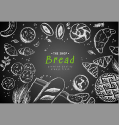 bakery vintage background design hand vector image