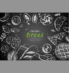 bakery vintage background design hand vector image