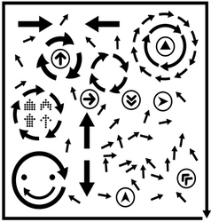 beautiful popular arrow sign symbol icon vector image