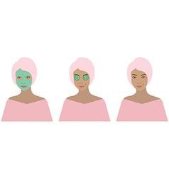 Beauty set vector image
