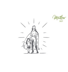 best mother and daughter holding hands female vector image