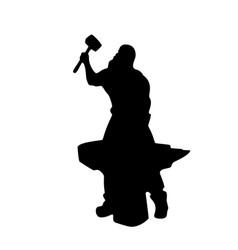 blacksmith male silhouette on white vector image