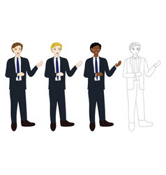 business man presentation vector image