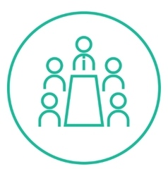Business meeting in the office line icon vector image