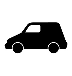 car on white background vector image vector image