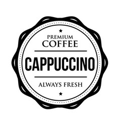 coffee cappuccino vintage stamp vector image