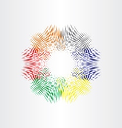 Color explosion fireworks background vector