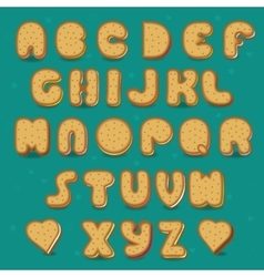Cookies alphabet vintage style vector