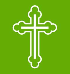 crucifix icon green vector image