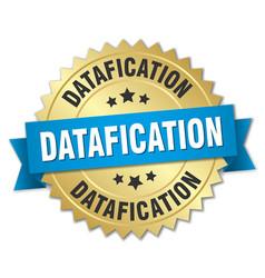 Datafication round isolated gold badge vector