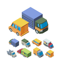 delivery transport isometric 3d vector image