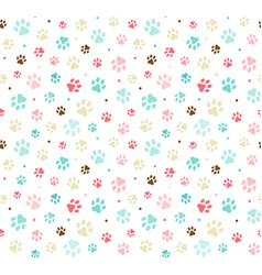 dog paw print seamless template for your design vector image