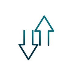 Economy business transaction transfer money arrows vector