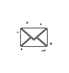 email sms mail icon vector image