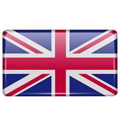 Flags United Kingdom in the form of a magnet on vector image