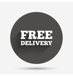 Free delivery sign icon Delivery button vector image
