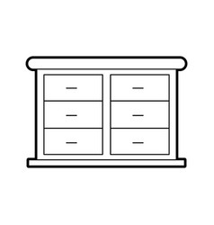 furniture bathroom drawers cabinet wooden vector image