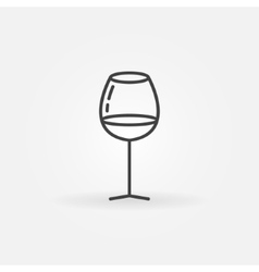 Glass of wine concept icon vector image