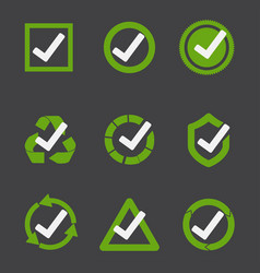 green tick mark vector image