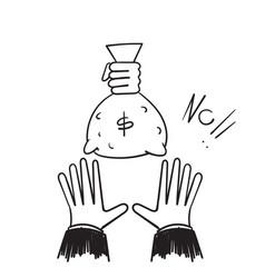 Hand drawn doodle offer money symbol vector