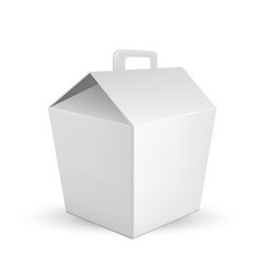 handled food box for transportation lunch vector image