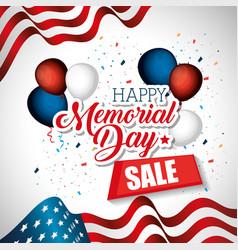 Happy memorial day sale vector