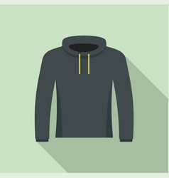 hip hop hoodie icon flat style vector image