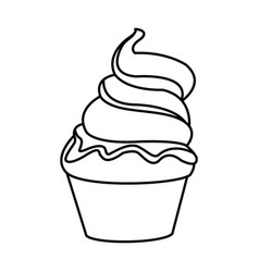 ice cream fresh cold sweet outline vector image