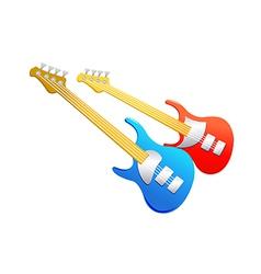 Icon electronic guitar vector