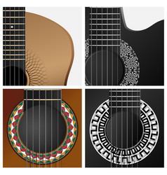 icon some types guitar vector image