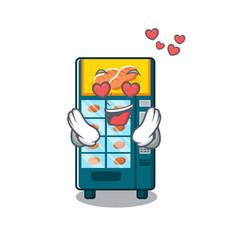 In love bakery vending machine in a mascot vector