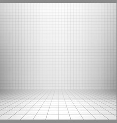 interior backdrop with grid vector image