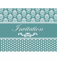 Invitation card or postcard vector