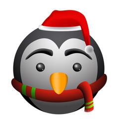 Isolated penguin emoji vector