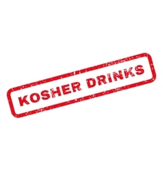 Kosher Drinks Text Rubber Stamp vector