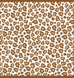 leopard skin fur print brown seamless pattern vector image