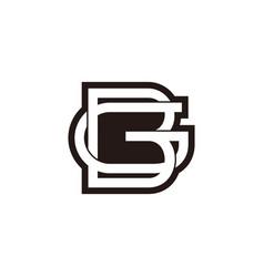 Letter bg linked negative space design fit vector