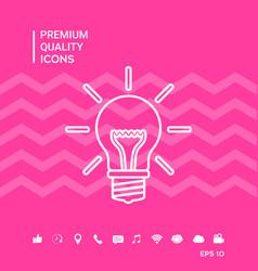Light bulb - new ideas line icon vector