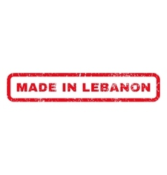 Made In Lebanon Rubber Stamp vector