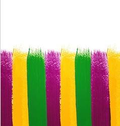 Mardi Gras watercolor background vector image