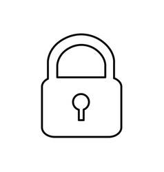 Metal padlock closed icon vector