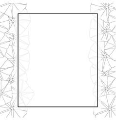 Morning glory flower outline banner card border vector