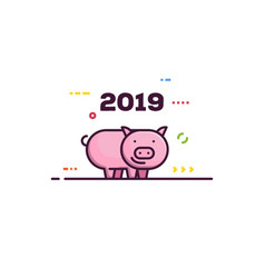 new year piggy vector image