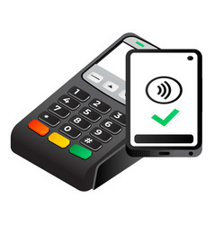 Nfc terminal payment icon isometric style vector