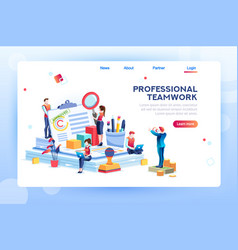 office web banner for website vector image