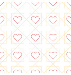 outline heart seamless pattern with creative vector image