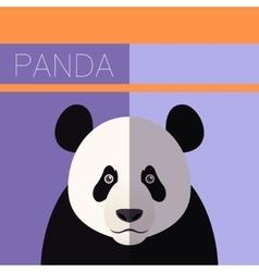 Panda flat postcard vector
